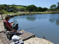 fisherman on Fir Tree Pond