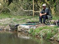 fisherman on Heron Lake